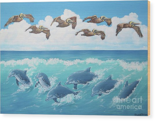 Surf And Soar Wood Print