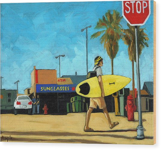 Surf And Turf - Oil Painting Wood Print