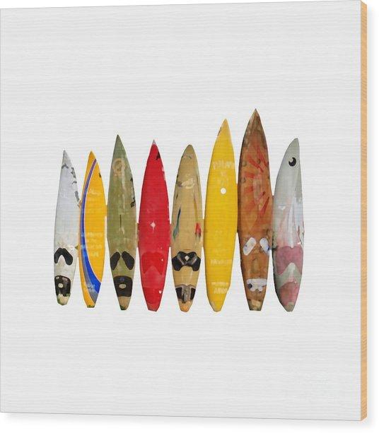 Wood Print featuring the digital art Surf Board T-shirt by Edward Fielding