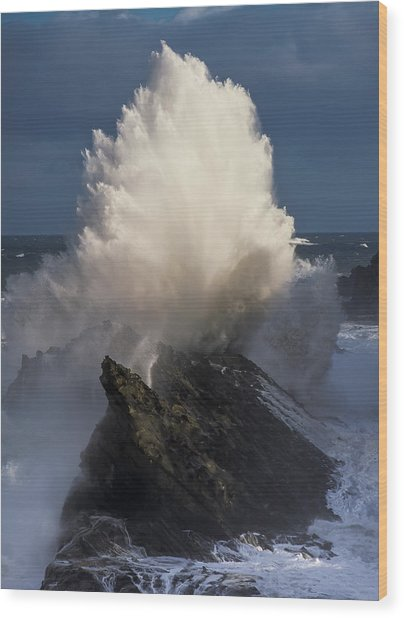 Surf Eruption Wood Print