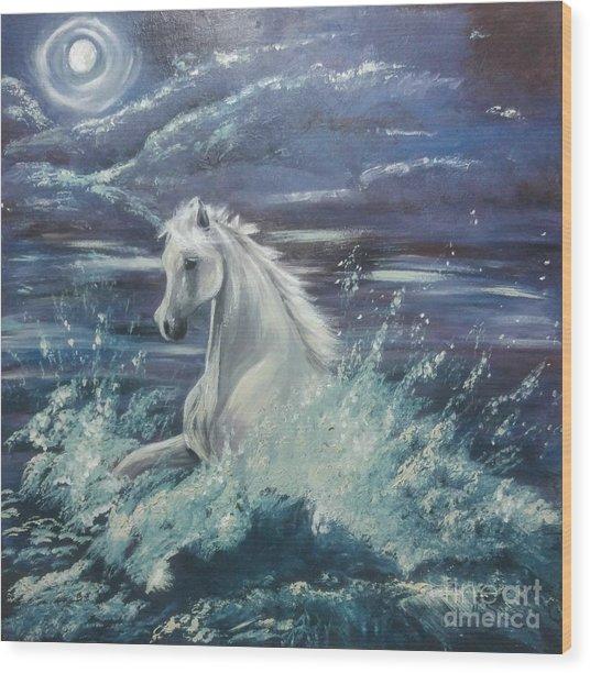 White Spirit Wood Print