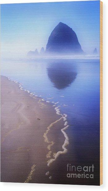 Surf Reflection Wood Print