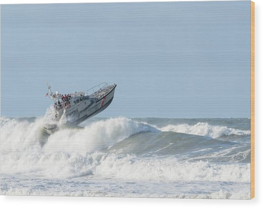 Surf Rescue Boat V2 Wood Print