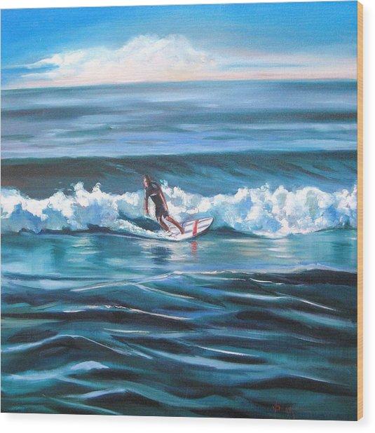 Surf Wood Print by Yvonne Dagger