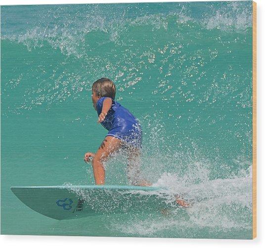 Surfer Boy Wood Print