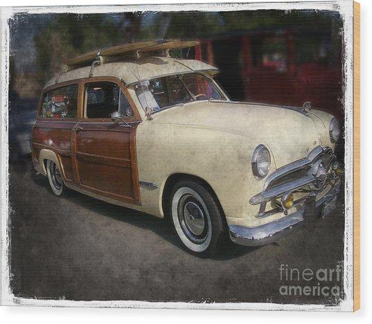 Surfer Wood Panel Car Wood Print