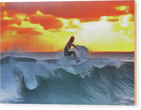 Surferking Wood Print