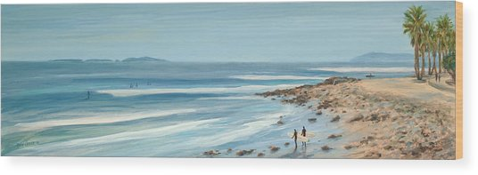 Surfers Point The Cove Wood Print by Tina Obrien