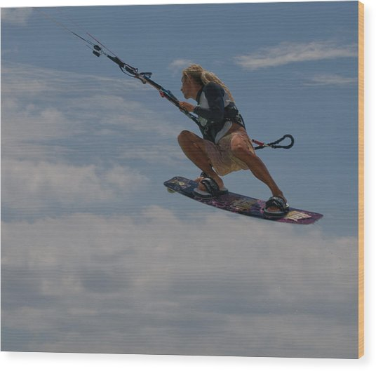 Surfing The Clouds Wood Print by Joe Teceno