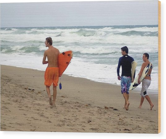 Surfs Up Boys Wood Print