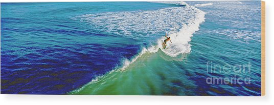Surfs Up Daytona Beach Wood Print