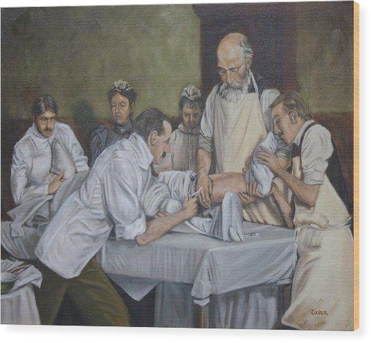 Surgery 1900 Wood Print