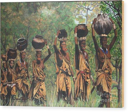 Blaa Kattproduksjoner        Surma Women Of Africa Wood Print