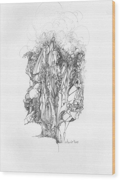 Surreal 10-1 Wood Print by Padamvir Singh