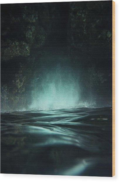 Surreal Sea Wood Print