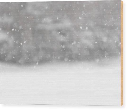 Surreal Snowdrops Wood Print