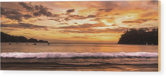 Surreal Sunset  Wood Print by Michael Santos