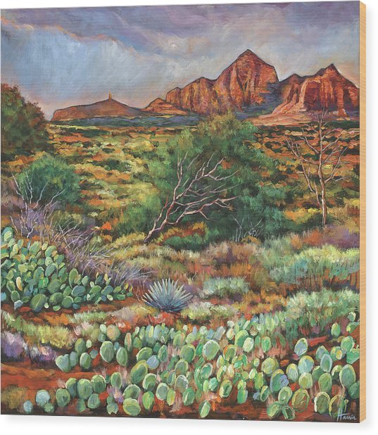 Surrounded By Sedona Wood Print