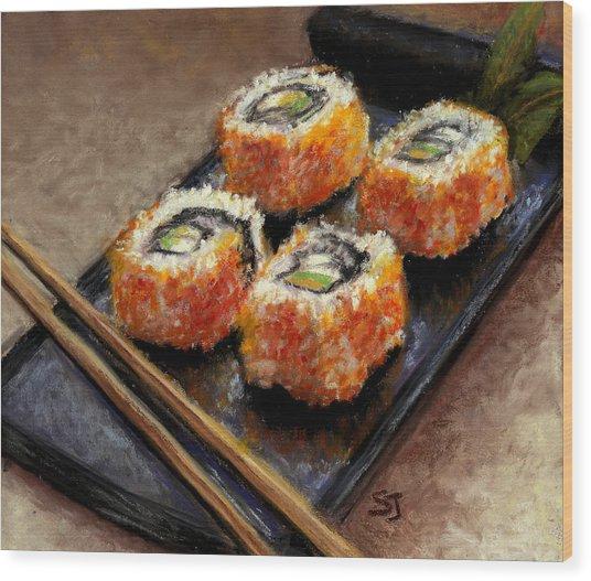 Sushi 2 Wood Print