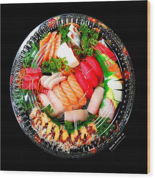 Wood Print featuring the photograph Sushi Platter 19 by Brian Gryphon