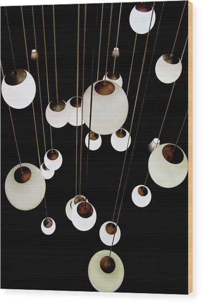 Suspended - Balls Of Light Art Print Wood Print