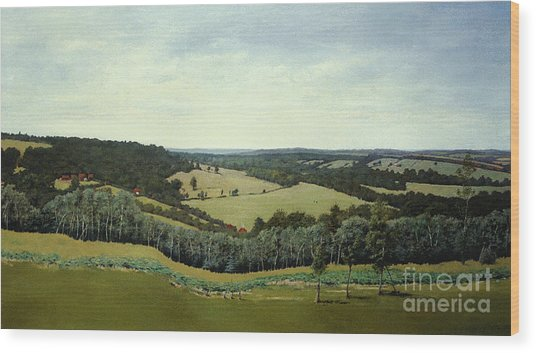 Sussex England - Landscape In Oils Wood Print