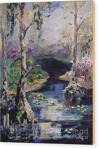 Suwannee River Black Water Magic Wood Print