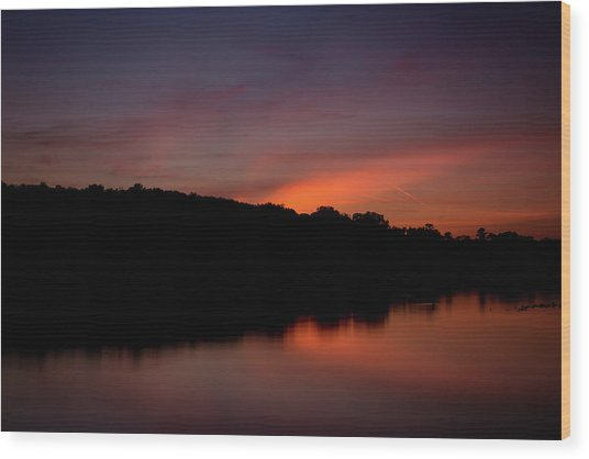 Suwannee Sundown Wood Print