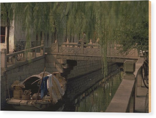 Suzhou Canals Wood Print