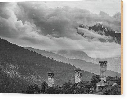 Svan Towers Wood Print