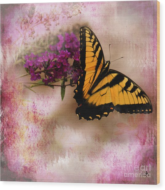 Swallow Tail Full Of Beauty Wood Print
