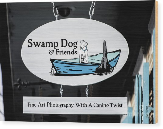 Swamp Dog And Friends Wood Print