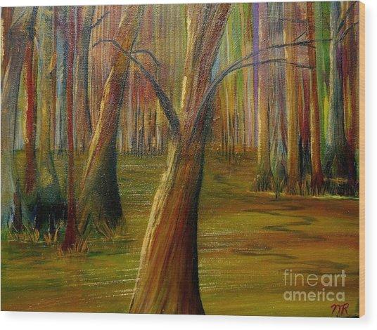 Swamp Magic Wood Print