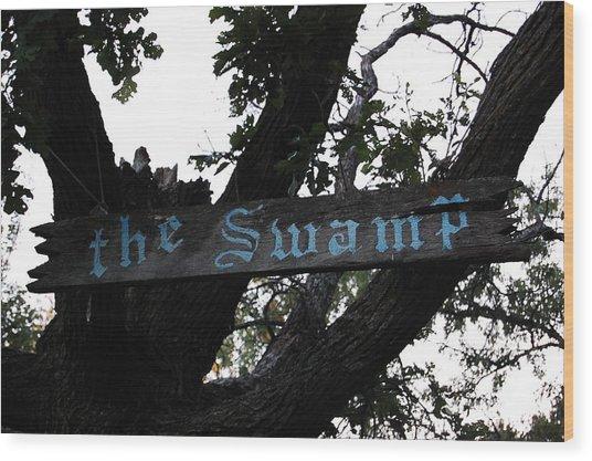 Swamp Oak Wood Print by The Stone Age