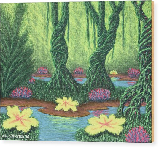 Swamp Things 02, Diptych Panel A Wood Print