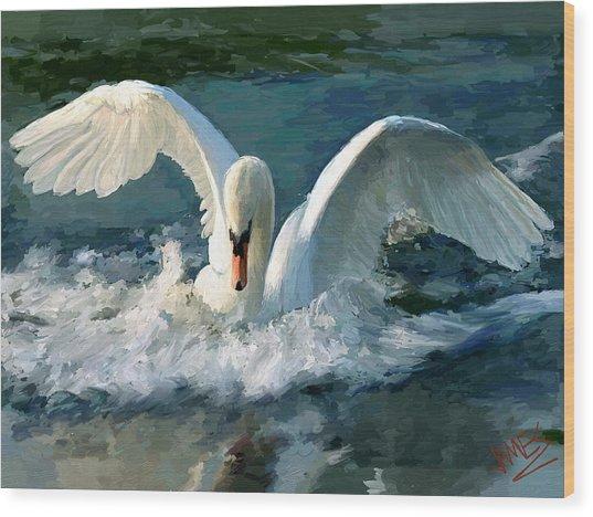 Swan Lake Wood Print
