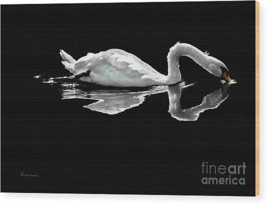 Swan Lake Nature Photo 2121a Wood Print