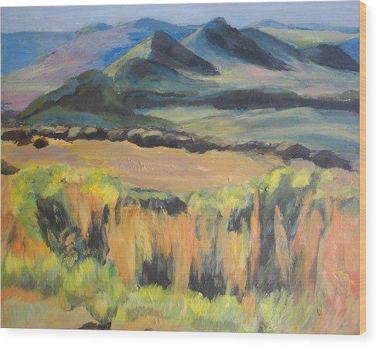 Swartberge Wood Print