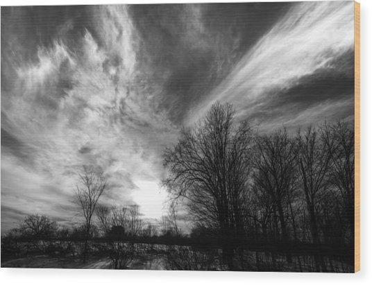Sweeping Sky Wood Print