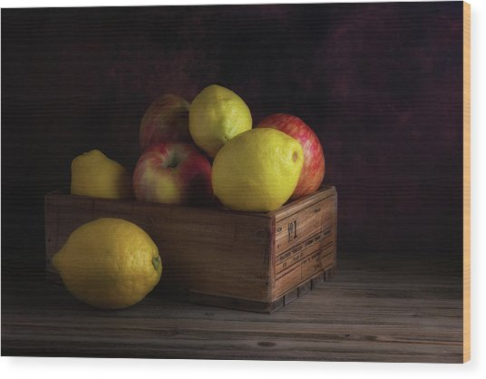 Sweet And Sour Fruits Still Life Wood Print