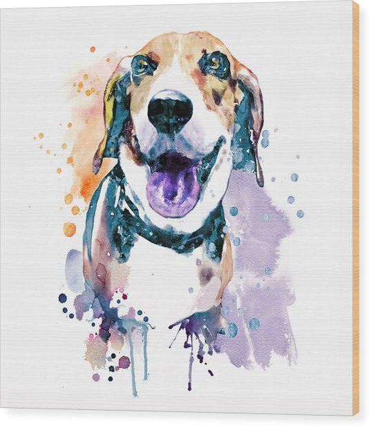 Sweet Beagle Wood Print