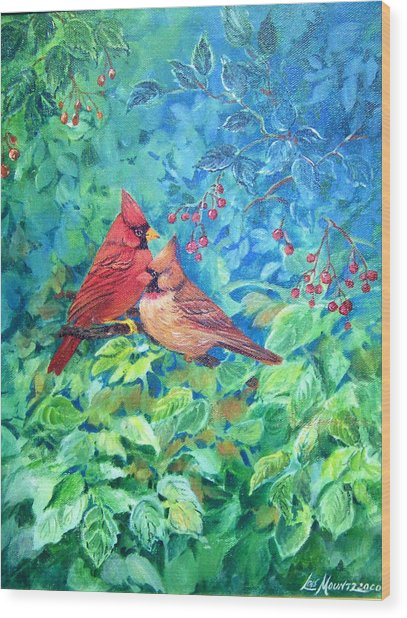 Sweet Contentment Wood Print by Lois Mountz