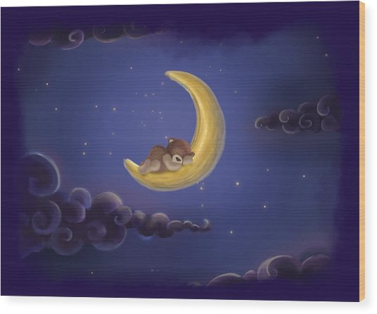 Wood Print featuring the drawing Sweet Dreams by Julia Art