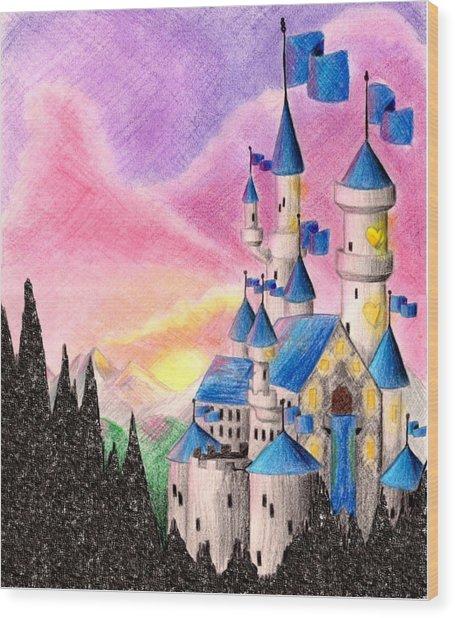 Sweet Heart Castle Wood Print by Scarlett Royal