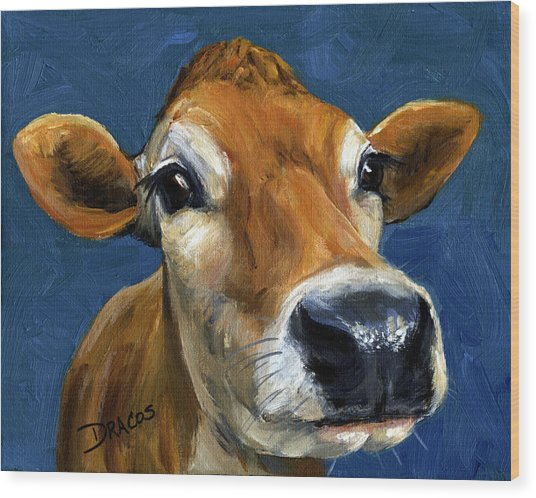 Sweet Jersey Cow Wood Print