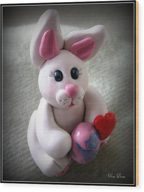 Sweet Little Bunny Wood Print by Trina Prenzi