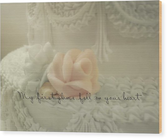 Sweet Love Quote Wood Print by JAMART Photography