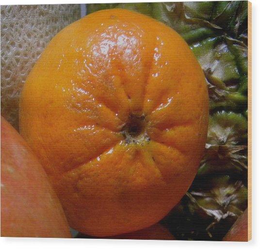 Sweet Mandarine Wood Print by Fanny Diaz