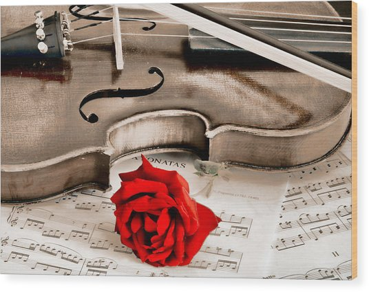 Sweet Music Wood Print