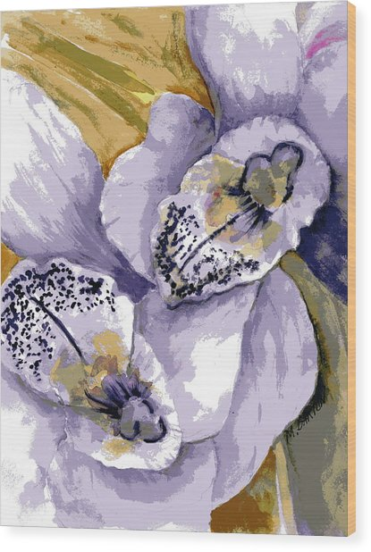 Sweet Orchids Wood Print